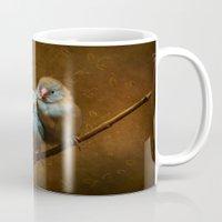 Male and Female Cordon Bleu Canaries Mug