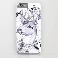 iPhone & iPod Case featuring Deer in Dress Code  by Mr.Klevra