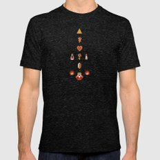 Zelda Mens Fitted Tee Tri-Black SMALL