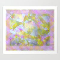 Abstract in Shimmery Pastel Colors Art Print