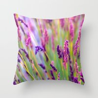 Pink & Purple Throw Pillow