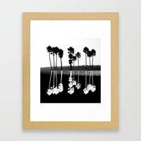 Palm Tree Reflection Framed Art Print