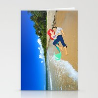 The Little Mermaid Ariel and Eric on the Beach Stationery Cards