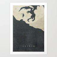 Dawning Fire - Skyrim Po… Art Print