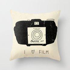 I Love Film Throw Pillow