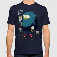 1 Up! Mens Fitted Tee Navy SMALL