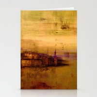 Golden Abstract Landscap… Stationery Cards