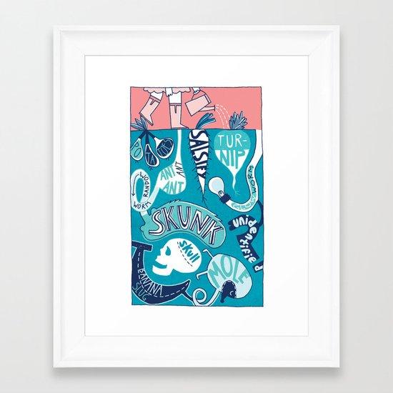 Garden Underground Framed Art Print