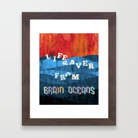 Brain Oceans Framed Art Print