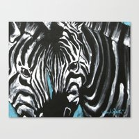 Eye of Contrast {Zebra Love} Canvas Print