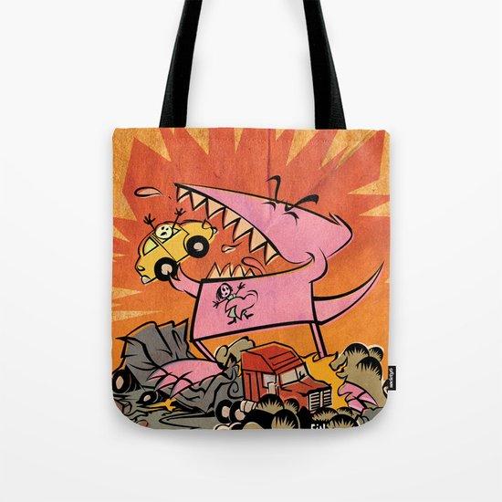 Dennis Dinosaurs's Delightfully Destructive Day. Tote Bag