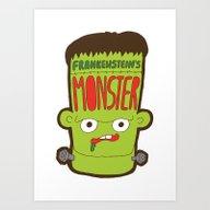 Art Print featuring Frankenstein's Monster by Evannave