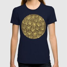 Queen Anne's Lace #1 Womens Fitted Tee Navy SMALL
