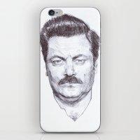 Ron Fucking Swanson iPhone & iPod Skin