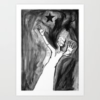 Lazarus 3 - Bowie Blackstar tribute, version Art Print