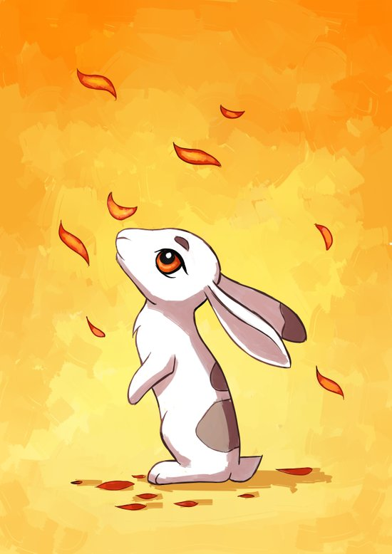 Autumn Hare Art Print