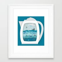 8 CUPS DEEP Framed Art Print
