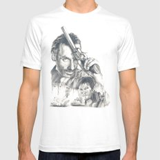 Walking Dead Mens Fitted Tee White SMALL