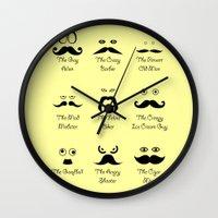 Eyes and Facial Hair Wall Clock