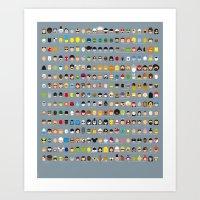 Famous Capsules - The Bi… Art Print