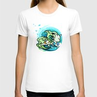 Water fox Womens Fitted Tee White SMALL