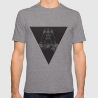 Lord Vader Mens Fitted Tee Tri-Grey MEDIUM