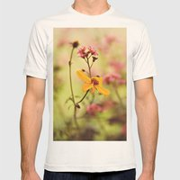 Lemon drop Flower box Mens Fitted Tee Natural SMALL