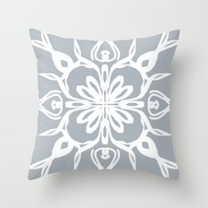 White on grey Throw Pillow