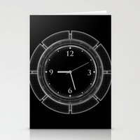 Clock Stationery Cards