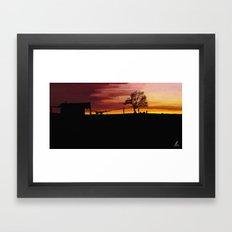 William Munny and his Wife Framed Art Print