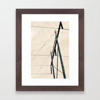 Transmit Framed Art Print