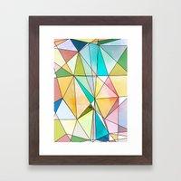 Geo - Mosaic  Framed Art Print