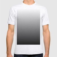 Black To White Gradient Mens Fitted Tee Ash Grey SMALL