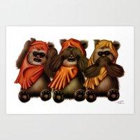 STAR WARS The Three Wise… Art Print