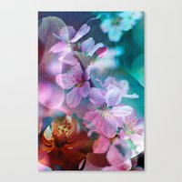 Double Flowers Canvas Print