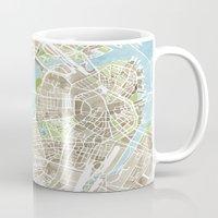 Boston Sepia Watercolor Map Mug