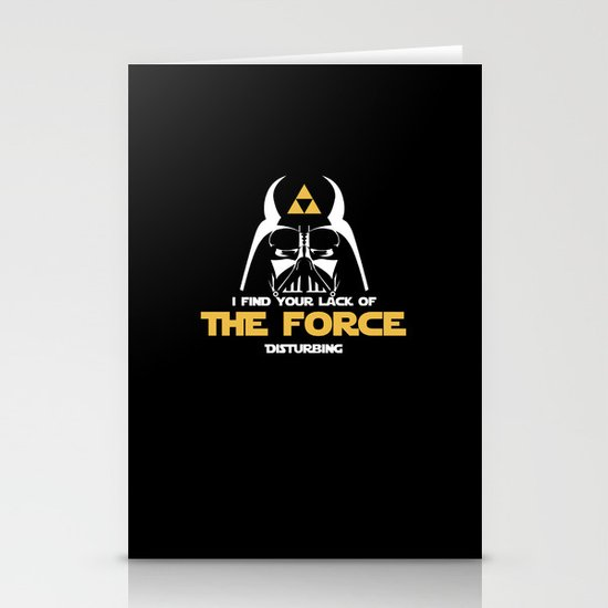 You lack the (Tri) Force!  Stationery Card