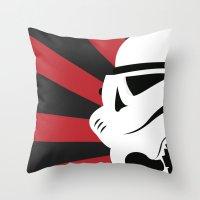 Storm Trooper Portrait Throw Pillow