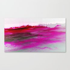 Purple Clouds Red Mountain Canvas Print