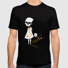 hello creepy Mens Fitted Tee SMALL Black