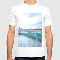 Millennium Bridge Mens Fitted Tee White SMALL
