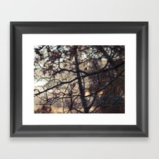 when the air is crisp Framed Art Print