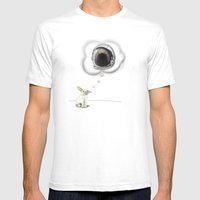 I Want To Be An Astronau… Mens Fitted Tee White SMALL