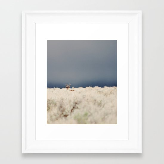 AGAINST THE FOG Framed Art Print