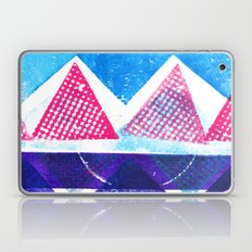 Press print and digital triangles Laptop & iPad Skin