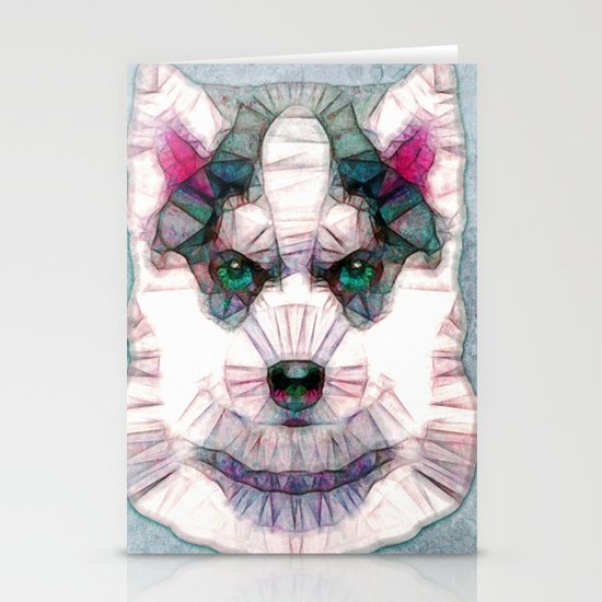 abstract husky puppy Stationery Card