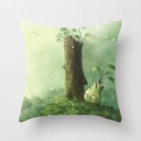 Plant Folk Throw Pillow