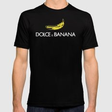 dolce and banana SMALL Black Mens Fitted Tee