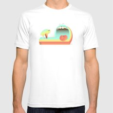 Fear Mens Fitted Tee White SMALL