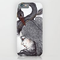 iPhone & iPod Case featuring Swan Song art print by Caitlin Hackett